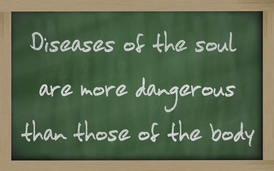 """11494898 - blackboard writings """"discretion is the better part of valour """""""