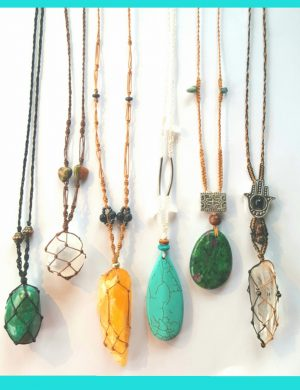 Macrame Healing Necklaces